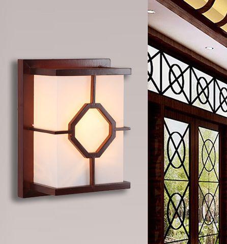 Chińczycy rustykalne czerwonego drewna ramki ścienne lampy klasyczne białe pergamin energy saving E27 lampy do sypialni i ganek i schody & studio QLBD001(China (Mainland))