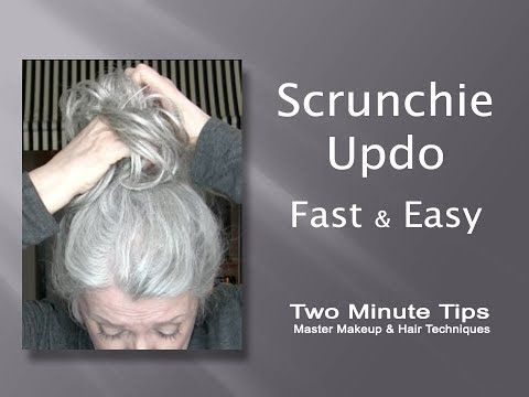 Updo with Scrunchie - Fast & Easy - YouTube