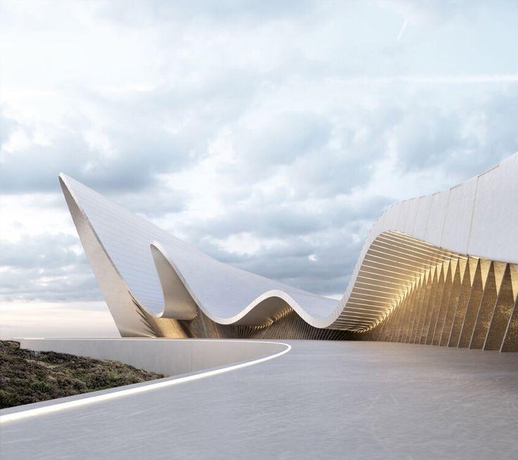 MODERN BUILDINGS | an organic shape building reminding waves moviment…