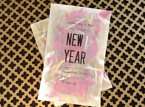 confetti invitations!