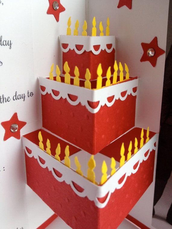 Открытка торт объемная для малышей