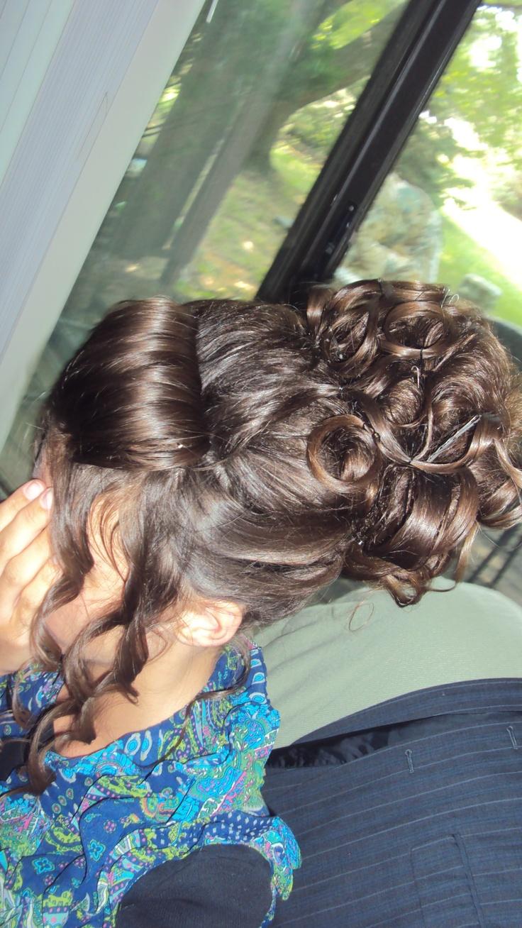 when I did Tiffany's hair