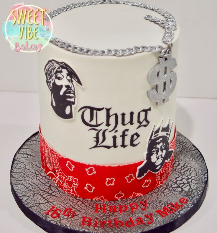 Thug Life Cake With Biggie Notorious B I G And Tupac In