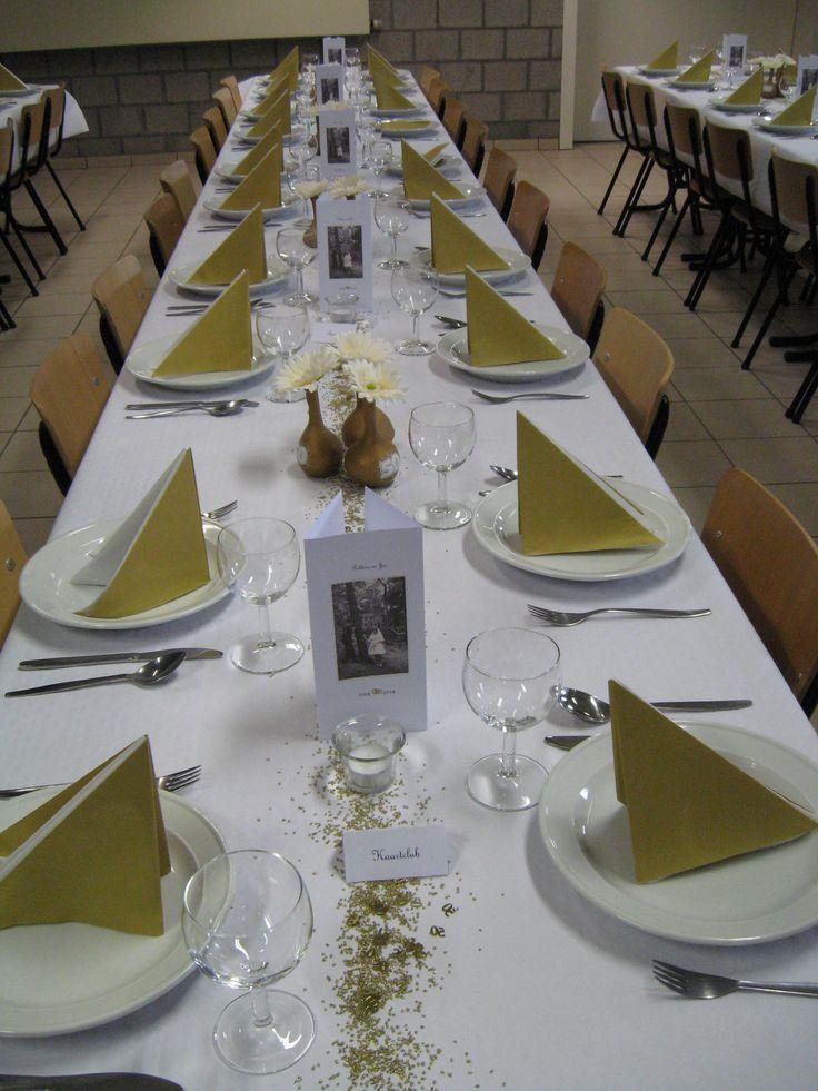 17 beste idee n over 50 jarig huwelijk op pinterest for Tafeldecoratie bruiloft