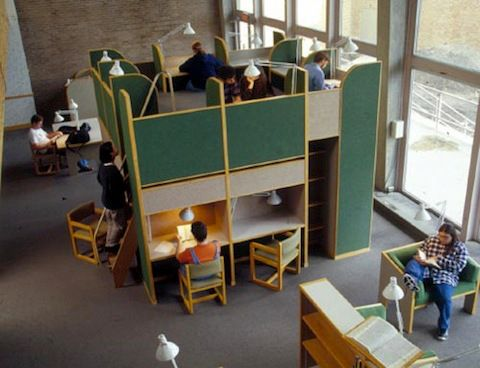 Grinnell College Burling Library - adult sized playground.