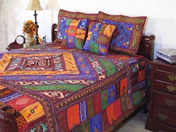 graceful and excellent bedding design for indian bedroom decoration style