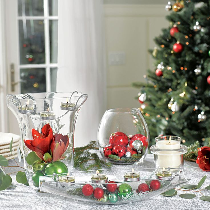 DIY Clearly Creative Partylite items. You can add anything for a holiday look! www.partylite.biz/geminicandles