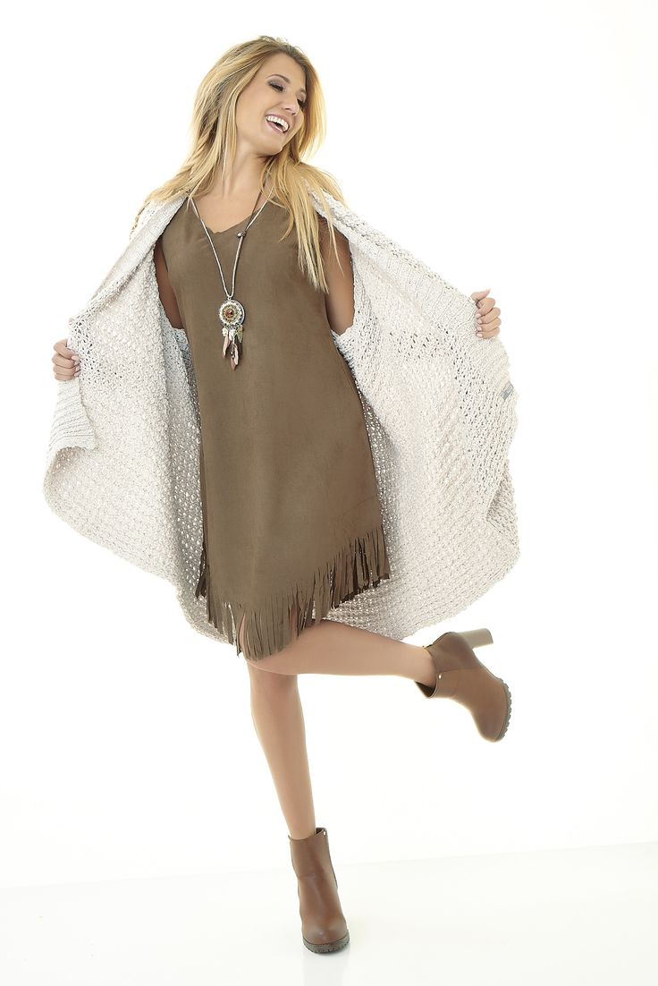 Eros Collection automne/hiver 2015 #eroscollection #ah15 #automne #hiver #style #look #robe #franges #indien #top #brun #camel #gilet #maxi #modele #mode #belgique #noemiehappart