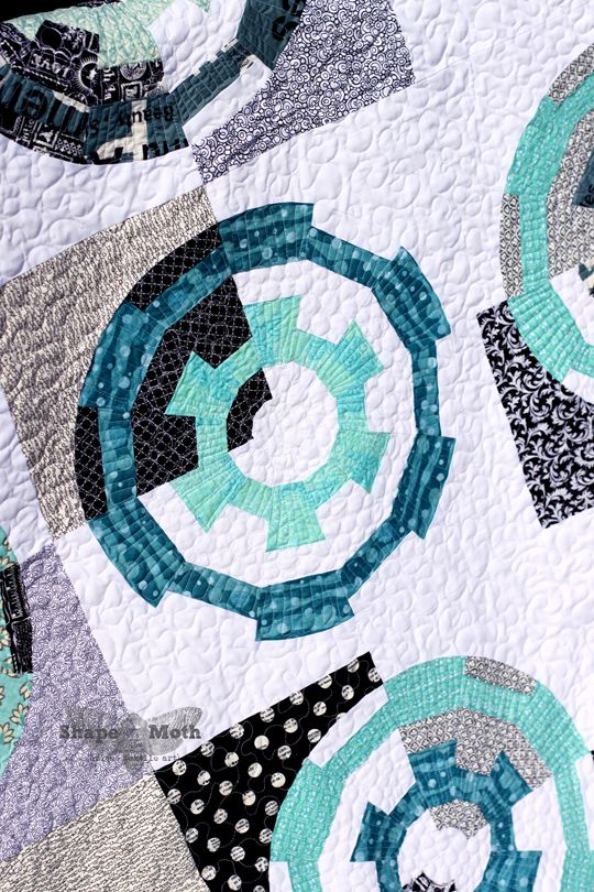 Shape Moth: 'Gearing up' dresden quilt would be cool boys quilt
