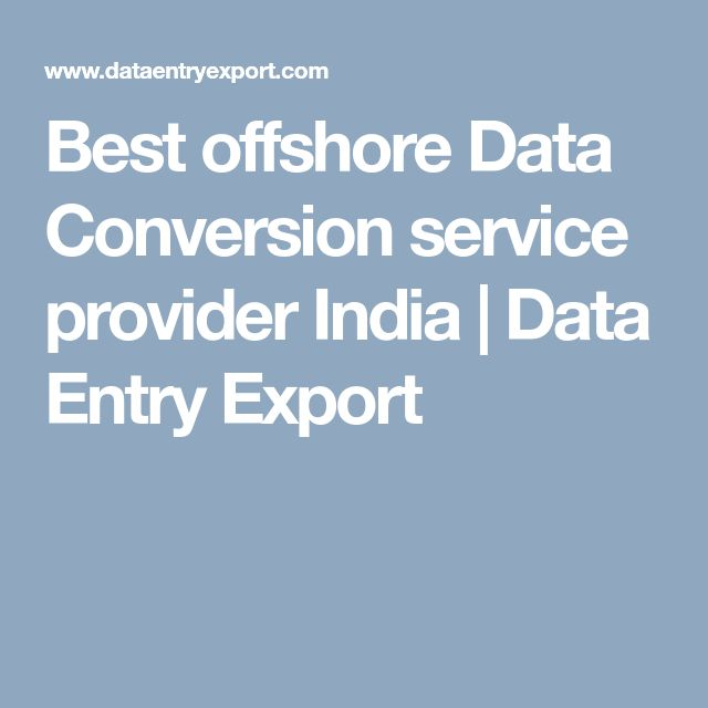Best offshore Data Conversion service provider India | Data Entry Export