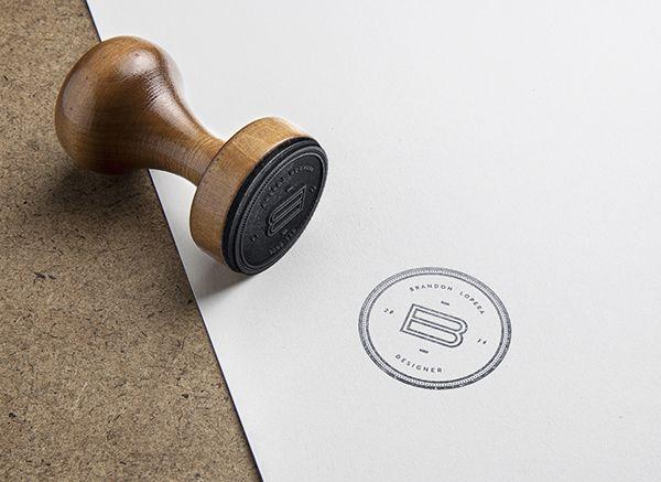 S E L F B R A N D I N G on Behance #logo #self #branding #stamp