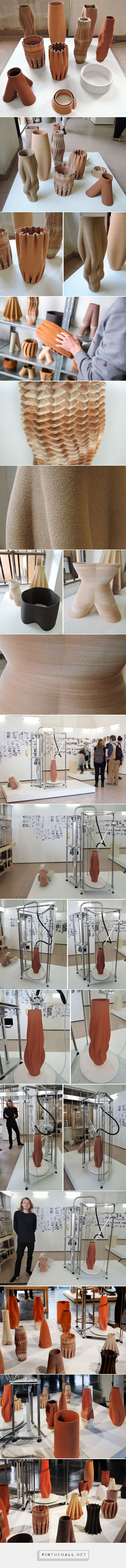 olivier van herpt's 3D printed ceramics at design academy eindhoven - created via http://pinthemall.net