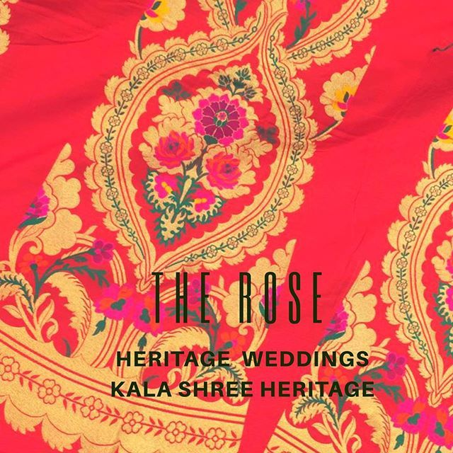 "Sneak peak from our ""The Rose"" collection : this is a hand woven heritage Lehenga inspired by ""kannauj rose"" 🌹more than 60 shades and colours woven on pure silk !! #rose #floral #vintage #heritage #lehenga #samridhiaggarwalwalia #kalashreeheritage #makeinindia #india #indianfashion #indianbride #weddings #indianwedding #custommade #handmade #weave #couture #fashion #makeinindia #traditional #love #banaras #colours"