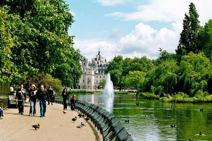 St. James Park. Best place for people watching and a coffee in London