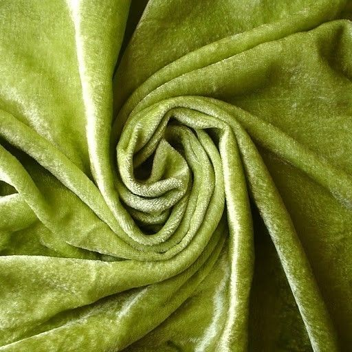 Lime Green Velvet Fabric Yardage Commercial Fabric by FabricMart, $9.40