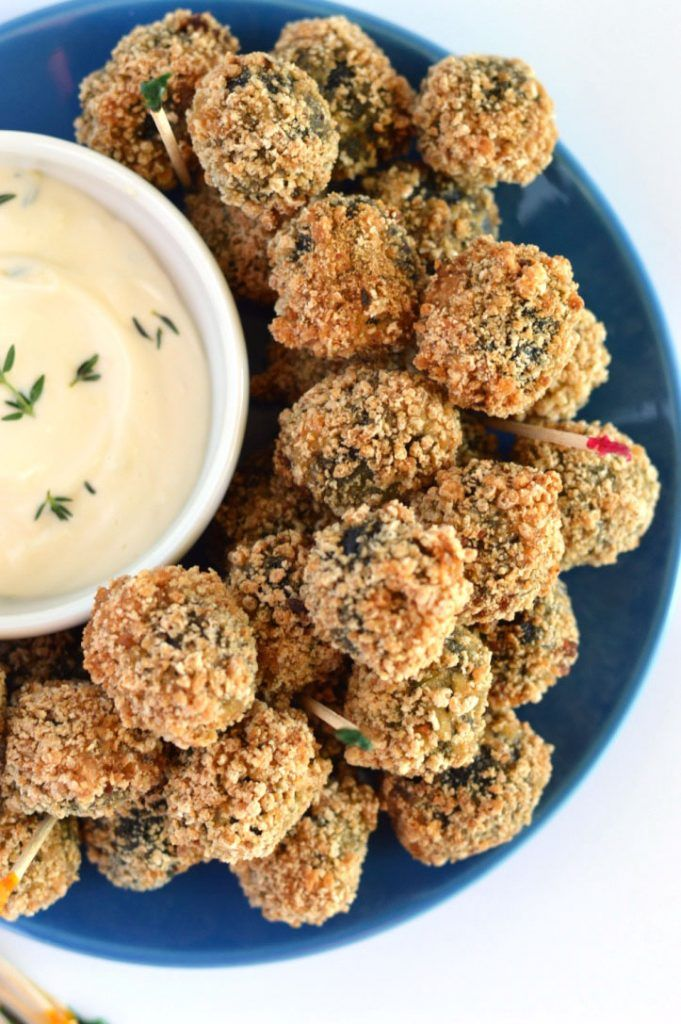 Sausage Stuffed Fried Olives from What The Fork Food Blog   @WhatTheForkBlog   whattheforkfoodblog.com
