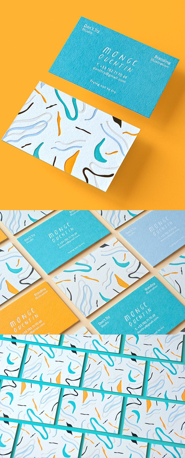 We're showing off our new Colour Collection stocks with the help of a fabulous design submitted by Don't Try Studio of Paris, France. These amazing business cards feature a custom made 3ply layered stock, 5 colour letterpress and a white foil design. Produced by Jukebox Print Business Card Free Design http://www.plasticcardonline.com
