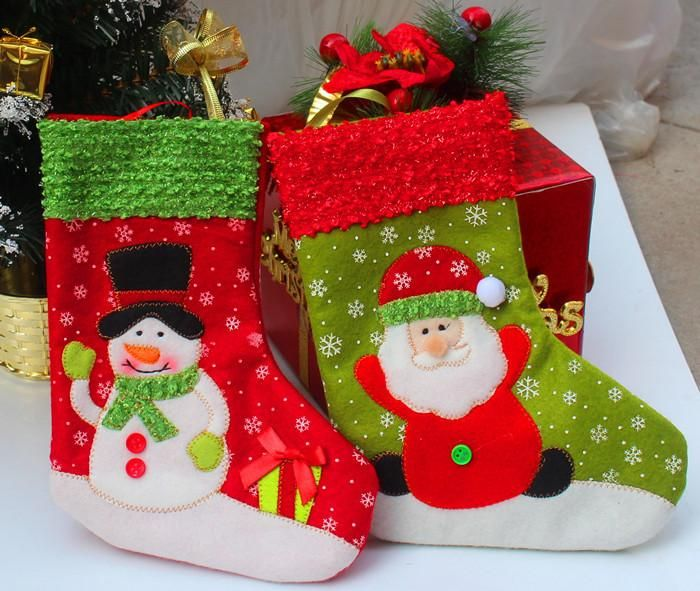 Snowman and Santa Christmas stockings for $1.36