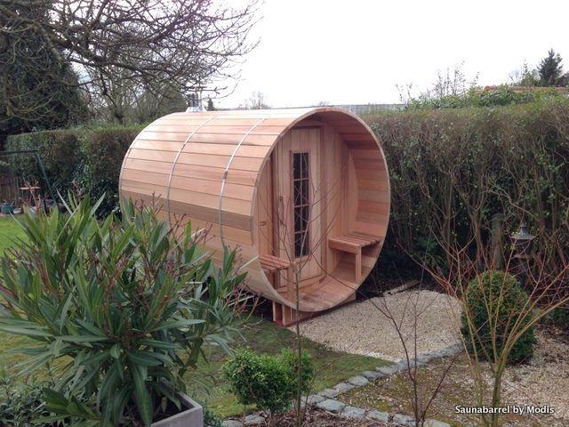 Barrel sauna - houtgestookt - made in Belgium by 'Saunabarrel by Modis' www.saunabarrel.be info@saunabarrel.be