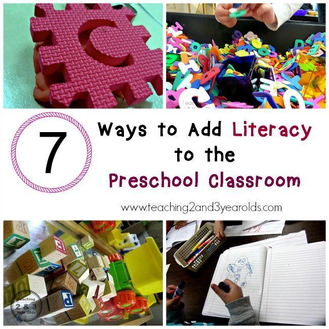 Literacy in Preschool Classrooms