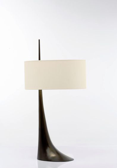 I like this mid century modern looking lamp. // Van Der Straeten