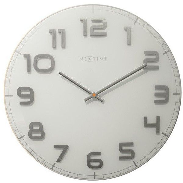 Amazing Large White Clock Part - 13: NeXtime Classy Large White Wall Clock ($110) ? Liked On Polyvore Featuring  Home,