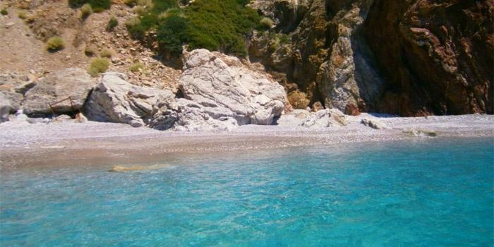 Paximadia Beach in Agia Galini, Rethimno, Crete