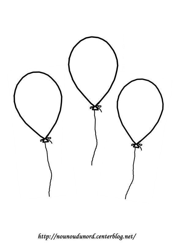 Coloriage Par 3 Ballons A Gommettes En Couleur Moldes De