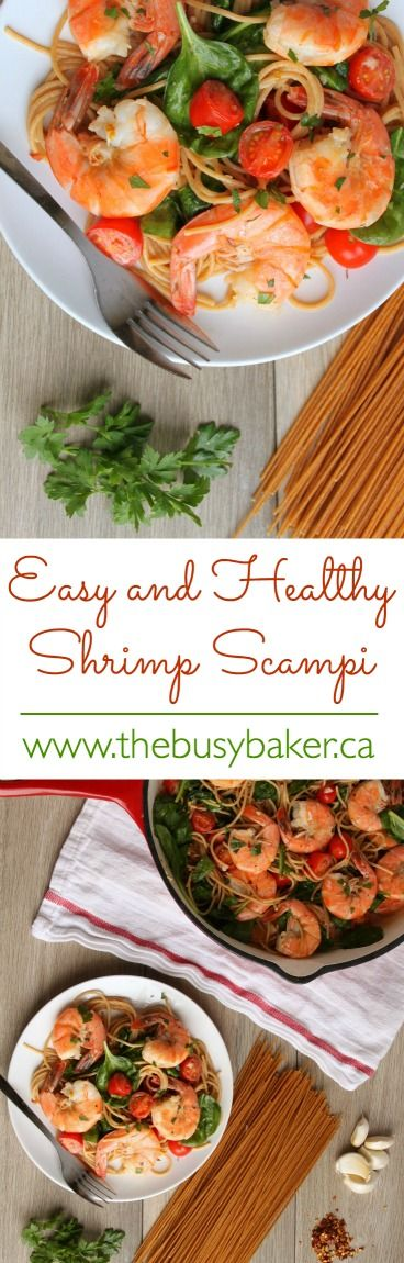 The Busy Baker: Easy Healthy Shrimp Scampi