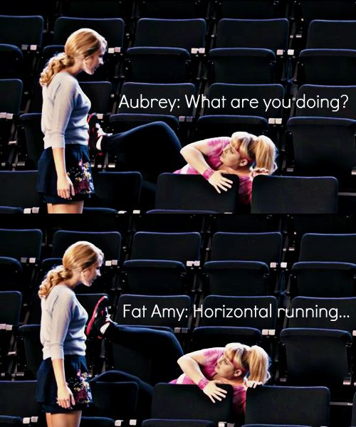 'Pitch Perfect' I watched this movie 4 times yesterday and fat Amy is the best…