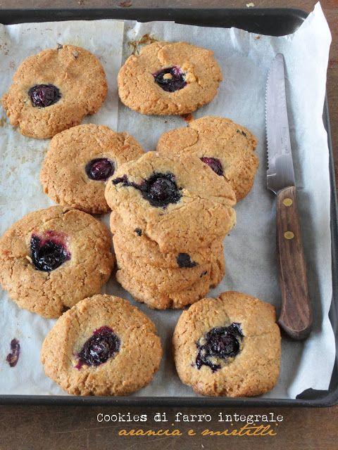 SenzalatteSenzauova: Cookies di farro integrale, arancia e mirtilli
