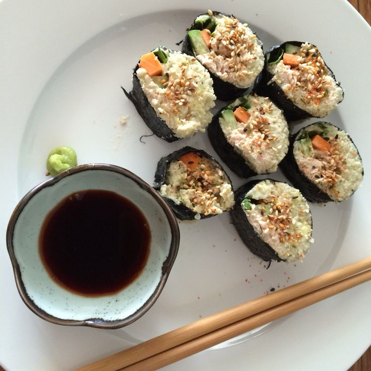 Tuna and avocado paleo sushi Recipe from Chef Pete Evans Facebook page