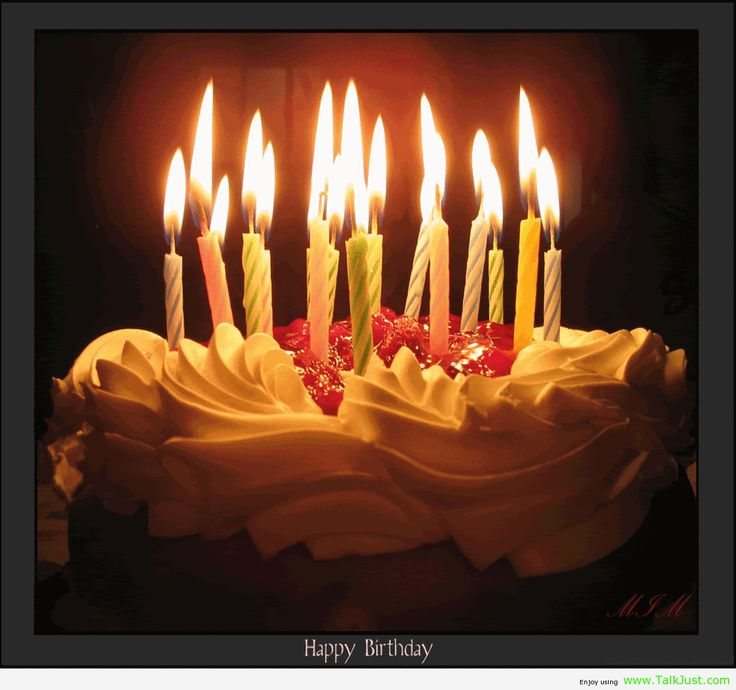 Birthday Cake With Candles Pictures