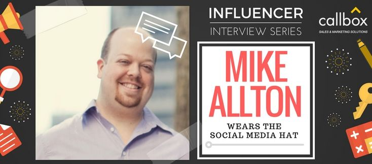 One of the people whose calling card shouts social media marketing expert shares some valuable insights to us. Here's Mike Allton of The Social Media Hat.