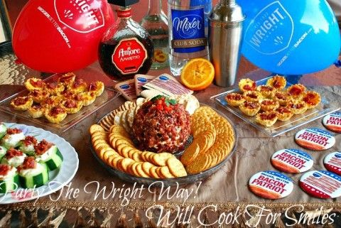 Party The Wright Way! End Of The Week Cocktail Party With Wright Bacon Hors D'oeuvres, #MealsTogether - Will Cook For Smiles