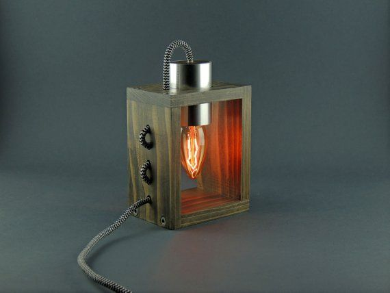 Este Articulo No Esta Disponible Steampunk Lamp Wooden Lamp Desk Lamp