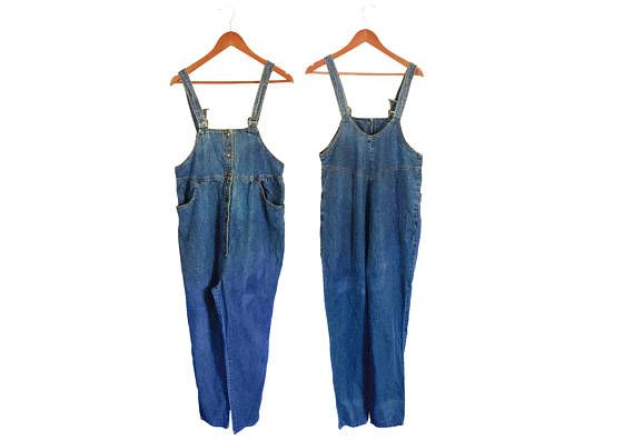 Vintage 90s Maternity Clothes Women Denim Overalls Women Overalls #thevillevintage
