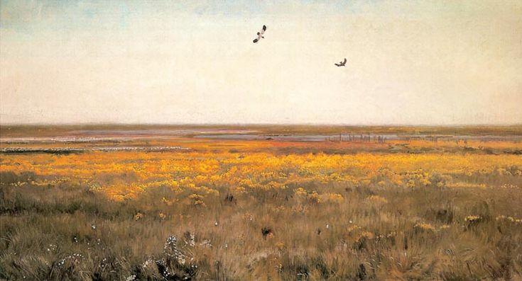 Józef Chełmoński - Wiosna. Kaczeńce, 1908