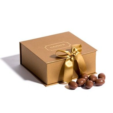 Milk Scorched Almonds in gold gift box #ValentinesDay #HaighsOnline