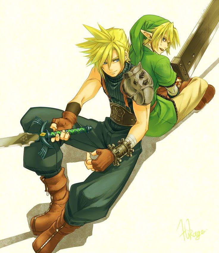 Smash Bros 4 - FFVII Cloud and LoZ Link @sonzaisinaimono