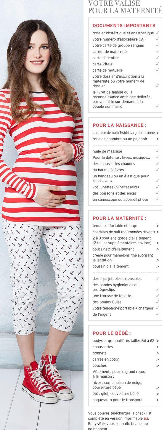 Votre valise pour la maternité - à commander en ligne- Baby-Walz                                                                                                                                                                                 Plus
