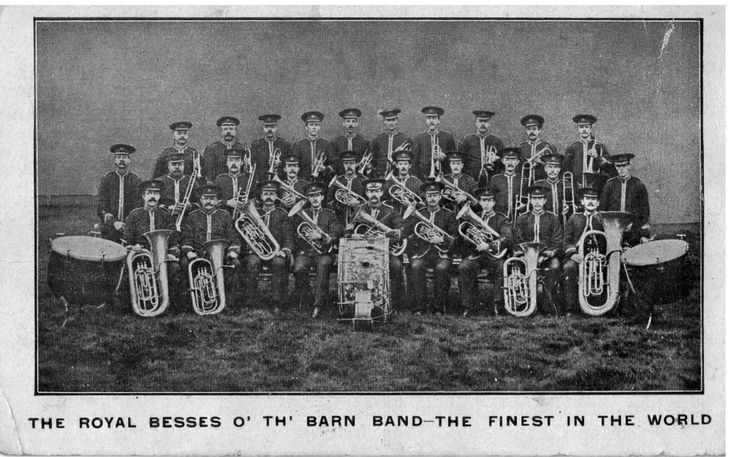 This is the Royal Besses o' the Barn Band, probably taken for their world tours in 1906 and 1908.