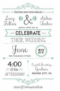 Wedding Invitation Cards - 31 Free Wedding Printables Every Bride-To-Be Should Know About