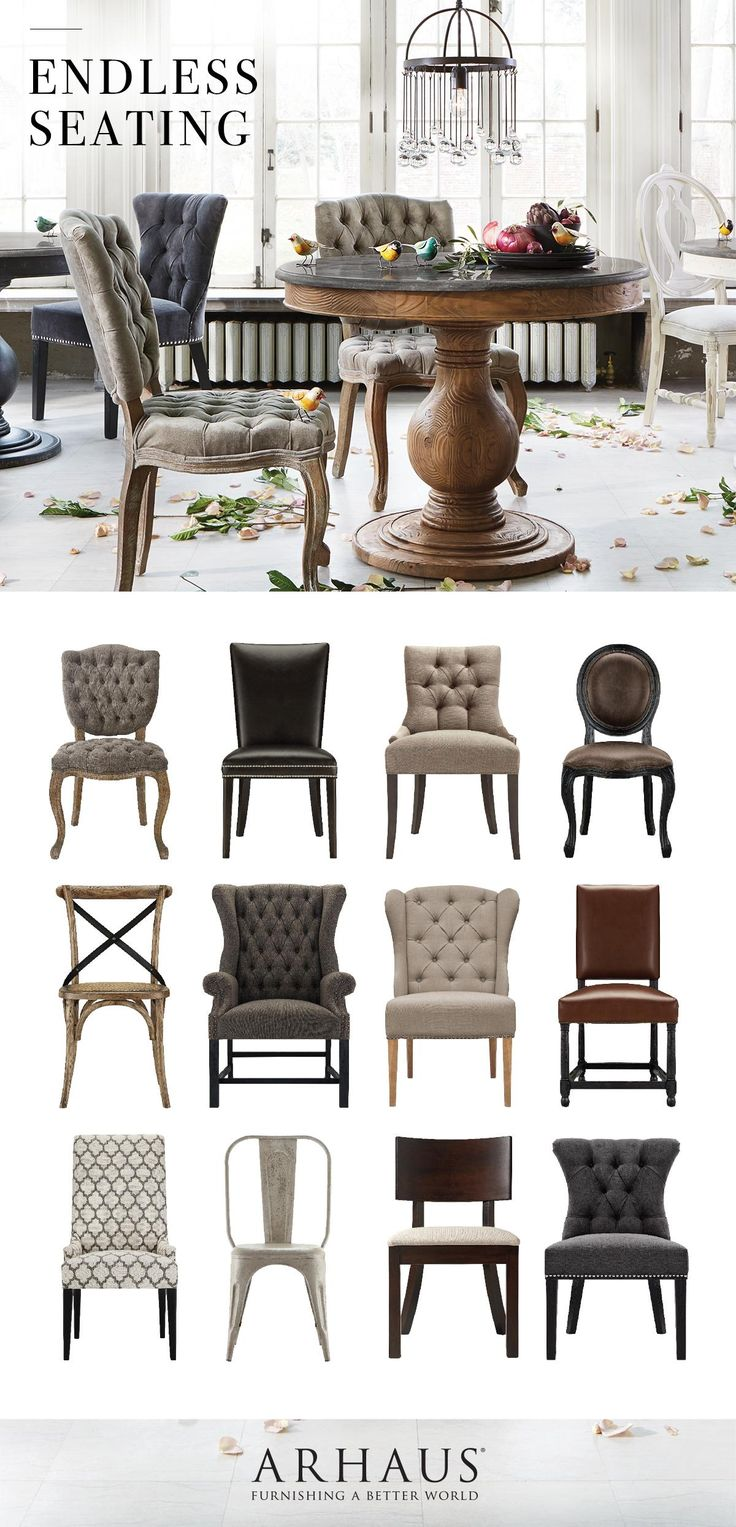 All of our dining chairs all in one place. Take your pick. @Arhaus https://emfurn.com/collections/home-chairs