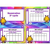 cartes à tâches, mathématiques, primaire