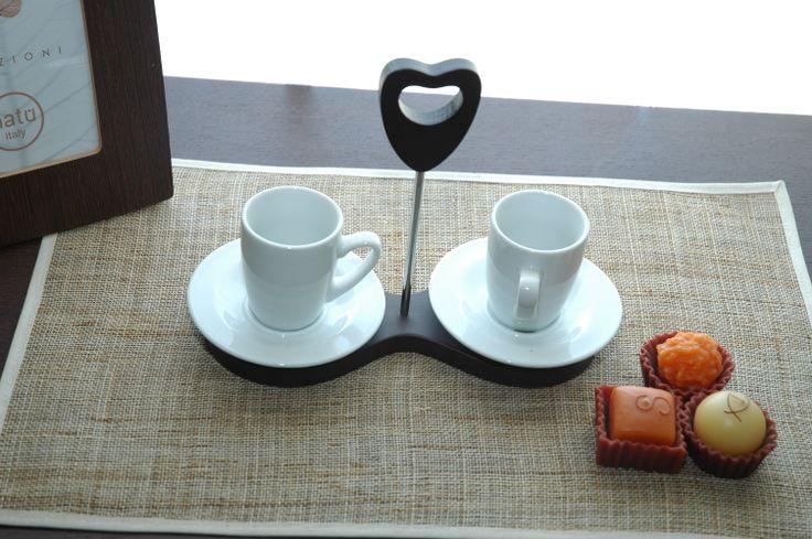 Buongiorno Amore! Small cups with holder