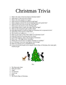 Christmas Trivia - twenty fun questions for your Christmas party. - HappyEdugator...