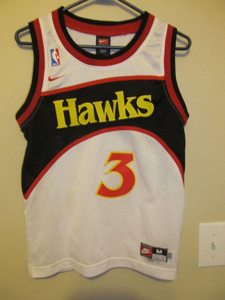Shareef Abdur-Rahim - Atlanta Hawks White Jersey - Nike youth Medium #Nike #AtlantaHawks