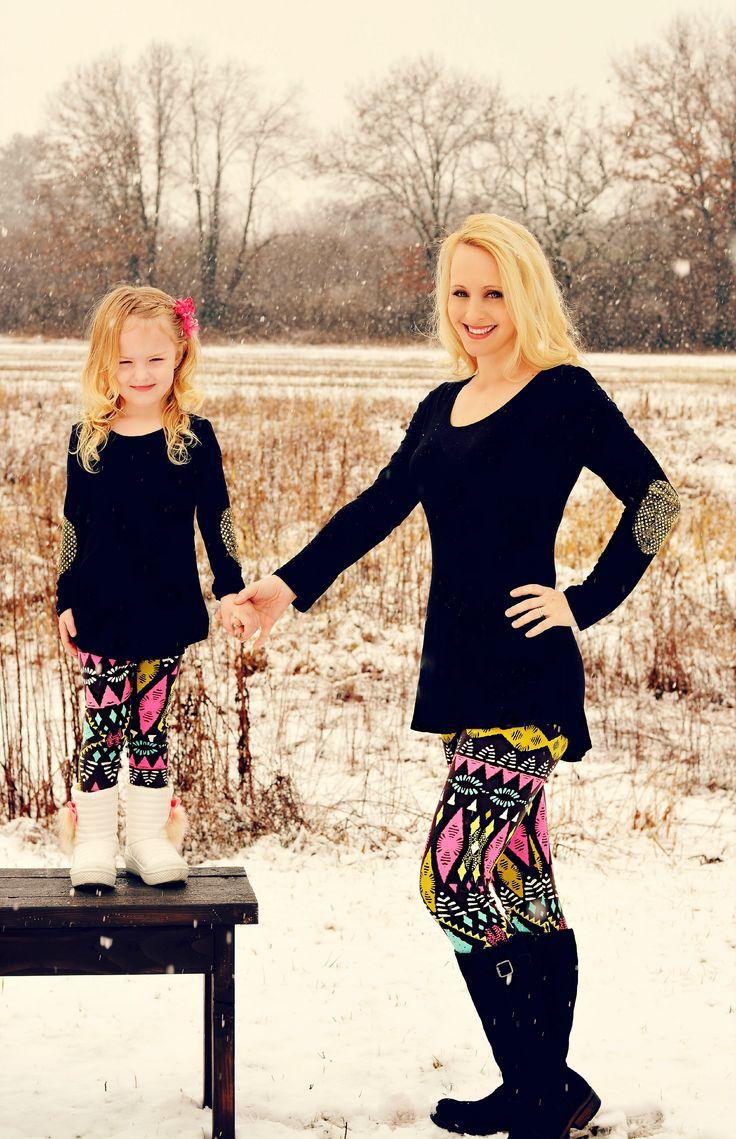 Pink & Turquoise Diamond Mommy & Me Leggings- matching ...