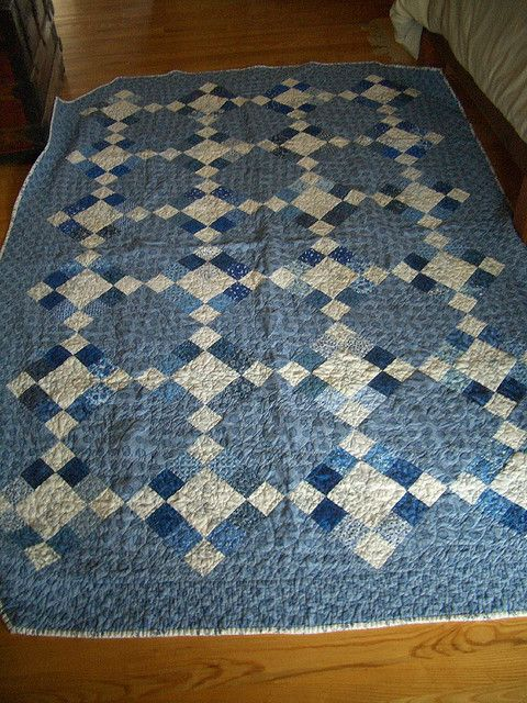 The large blocks would make this a quick quilt!